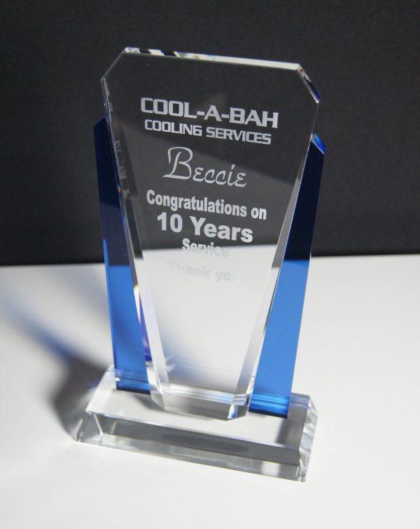 Crystal Award V Sides