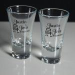 Double Nip Shot Glasses Printed