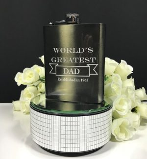 Gunmetal Mirror Finish Hip Flask