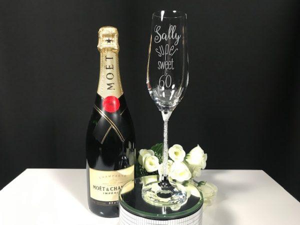 Crystal Stem Champagne Flute Single