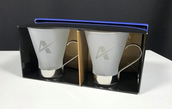 Double Cappucino Stemless Gift Box