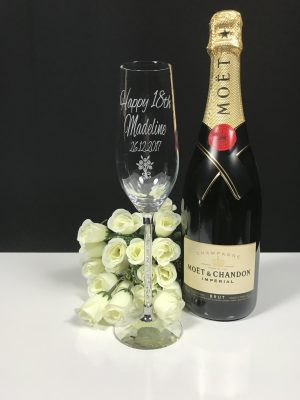 Cyrstal Stem Champagne Single