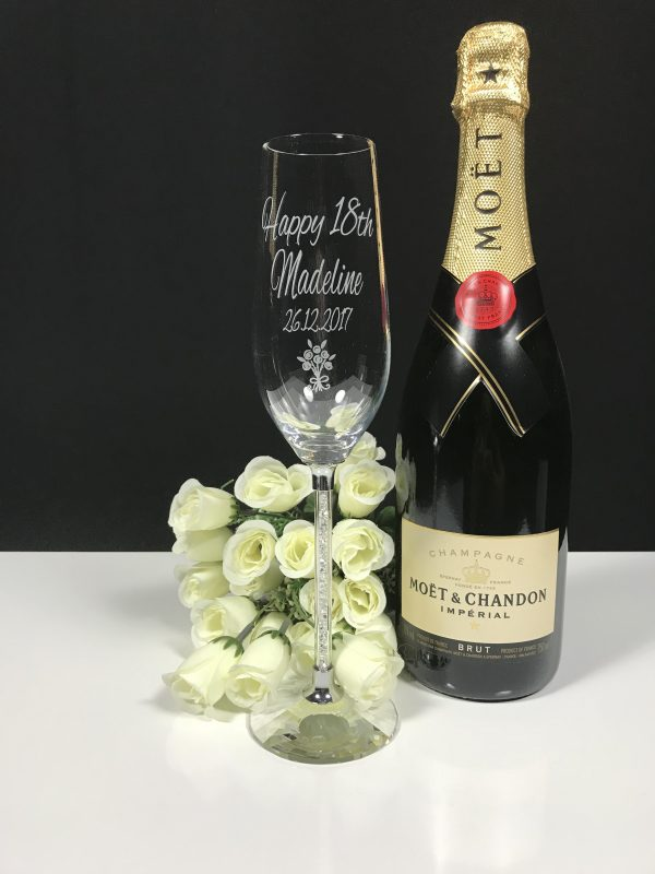 Cyrstal Stem Champagne Single