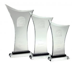 Victory Glass Award L 295X150MM