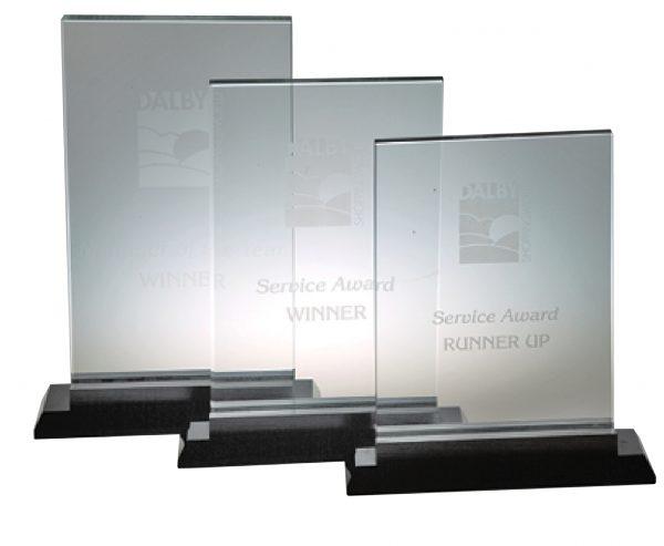 Upright Glass Award L 235X160MM