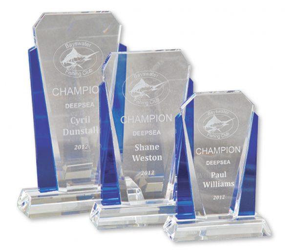 Crystal Award V Sides Large 225mm