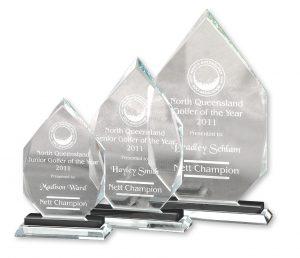 Crystal Award - Ash Base Large 280 mm x 160 mm