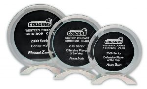 Glass Award Black Circle Large 190 x 180mm