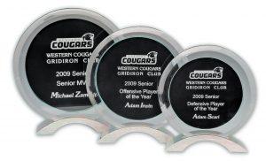 Glass Award Black Circle Large 190 x 180mm