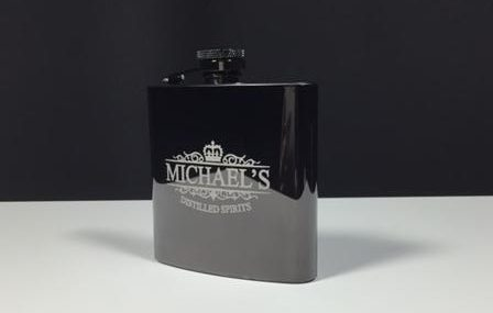 Black Mirror Finish Hip Flask2
