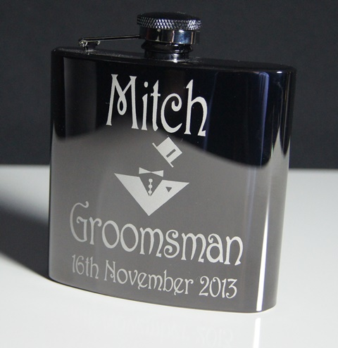 Black Mirior Finished Stainless Steel Hip Flask