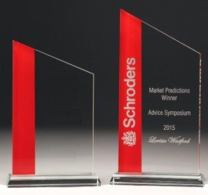 Glass Red Tower Award Large 245mm