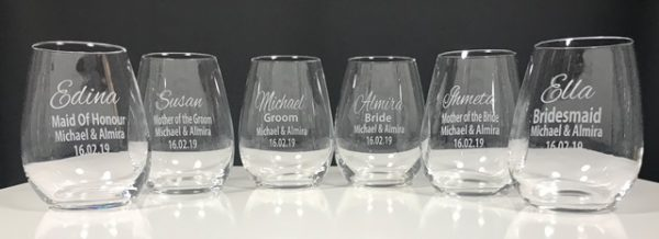 Stemless Wine Bridal Party