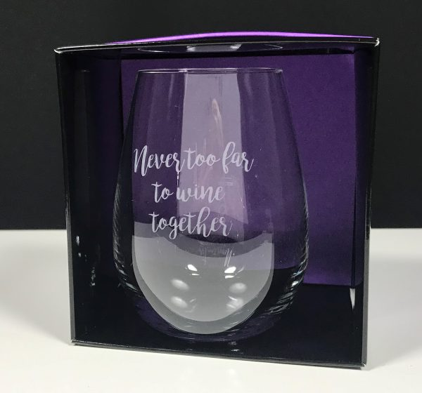 Stemless Wine Etched