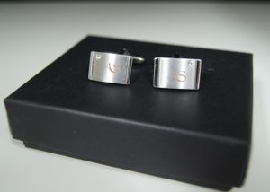 Diamante Cufflinks Matt Set