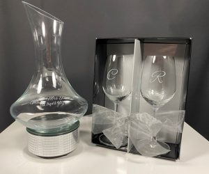 Wine Decanter Two Glass Set