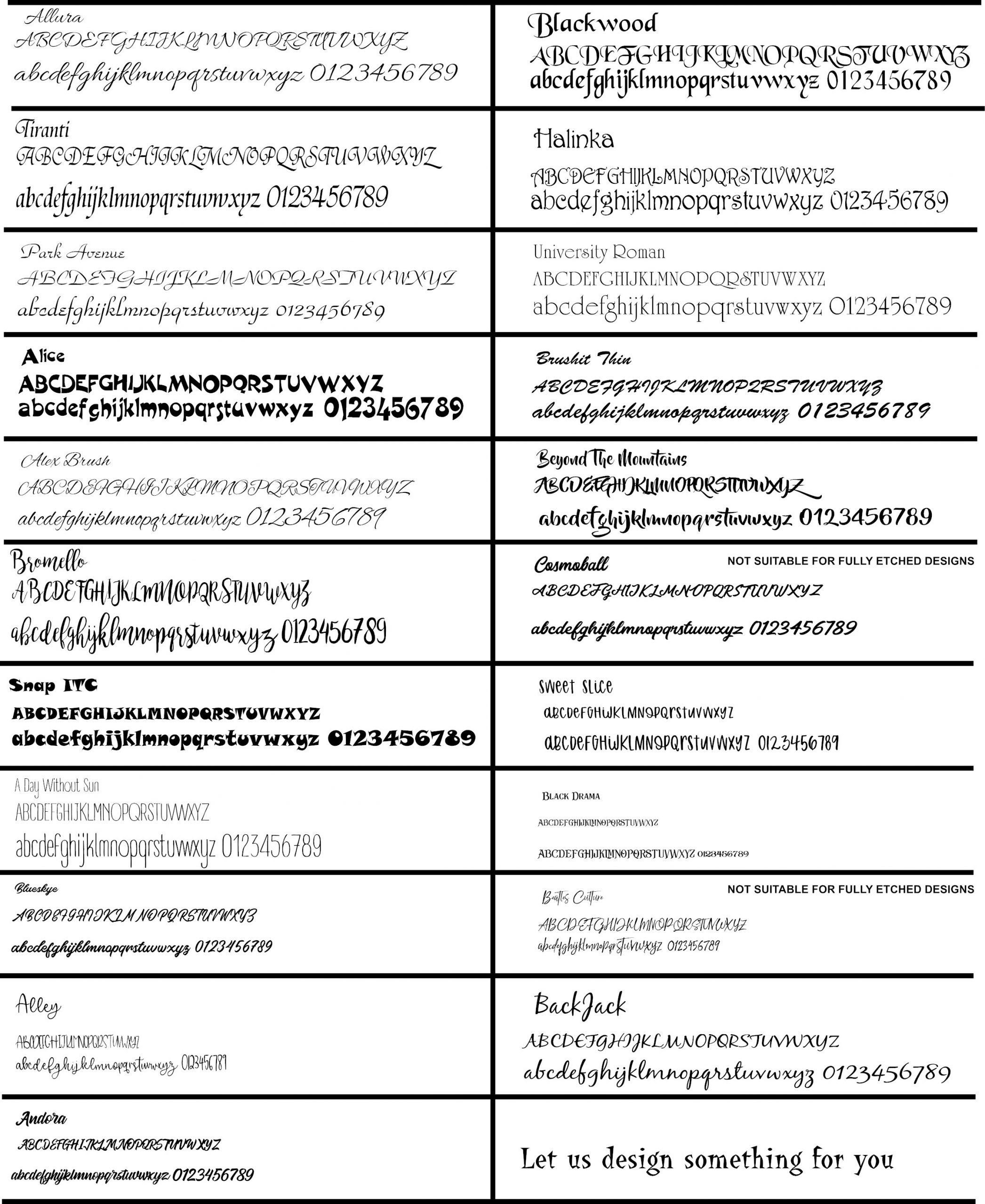 Groovy Glass Fonts