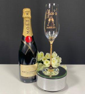Gold Leaf Champagne Flute