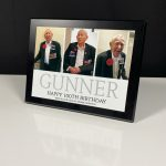 Black Wooden Plaque With Sublimated Plate